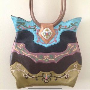 Oovoo Art Deco Bag Oriental Leather Satin